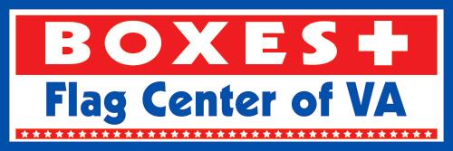 Boxes Plus/Flag Center of VA logo