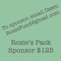 Be a Rosie's Pack Sponsor logo