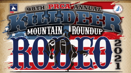98th PRCA Killdeer Mountain Annual Roundup registration logo