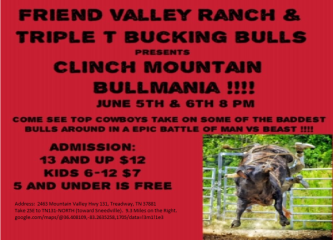 Clinch Mountain BULLMANIA registration logo