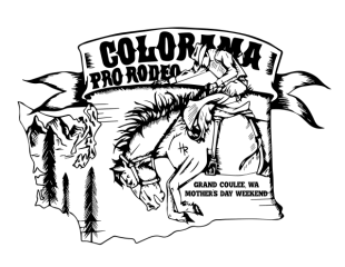 Colorama PRCA Grand Coulee Rodeo registration logo