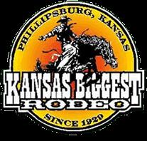 Kansas Biggest Rodeo registration logo