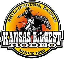 Kansas Biggest Rodeo registration logo
