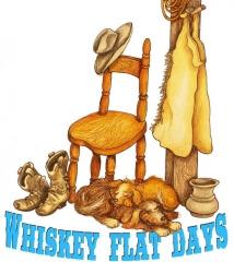 Kernvilles Annual Whiskey Flat Wild West Daze Rodeo registration logo