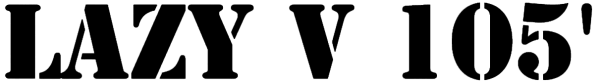 Lazy V 105' registration logo