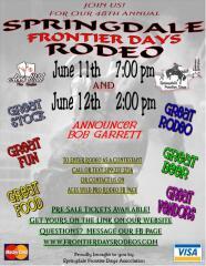 Springdale Frontier Days Open Rodeo registration logo