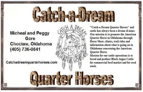 Catch A Dream Quarter Horses logo
