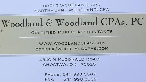 Woodland and Woodland CPA logo