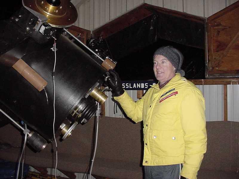 Tim at telescope