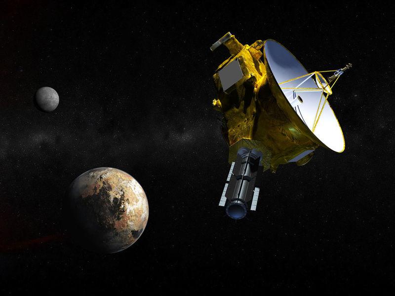 Pluto flyby new horizons art