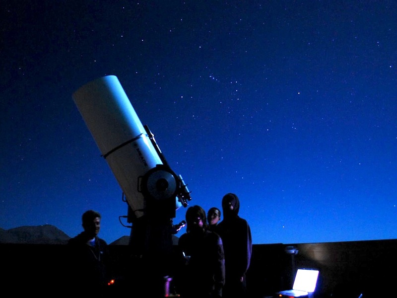 Observing at pangue observatory in chile