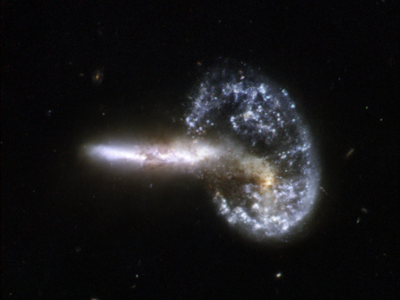 Hubble interacting galaxy arp 148