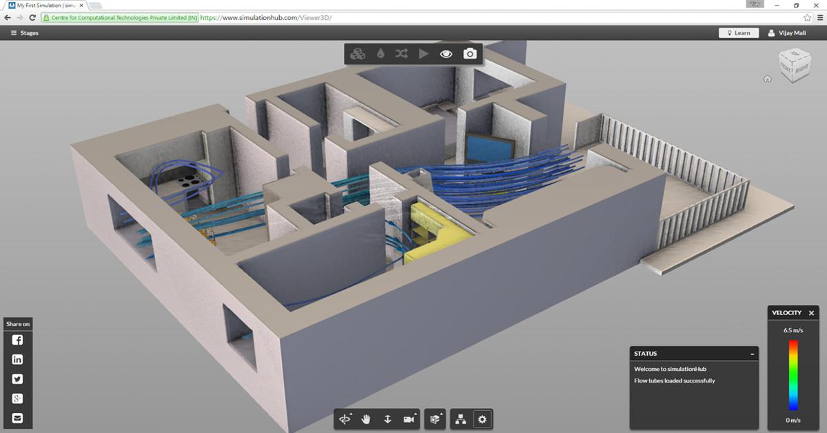 simulationHub : New fluid flow CFD simulation app for designers