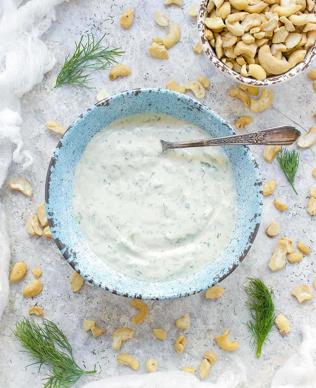 Dairy-free Tzatziki Sauce, vegan and delicious. Recipe at SoupAddict.com