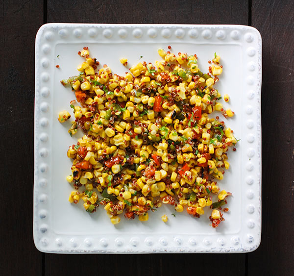 Grilled Corn and Quinoa Salad from SoupAddict.com