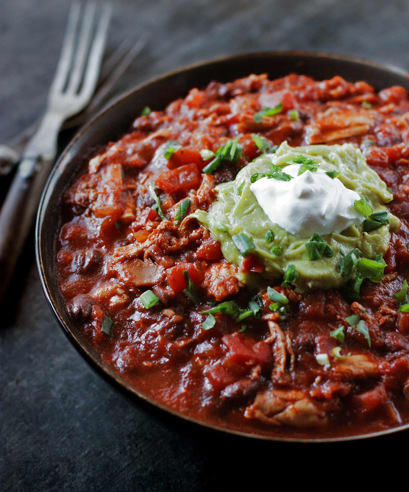 Healthy Chicken Chili | SoupAddict.com