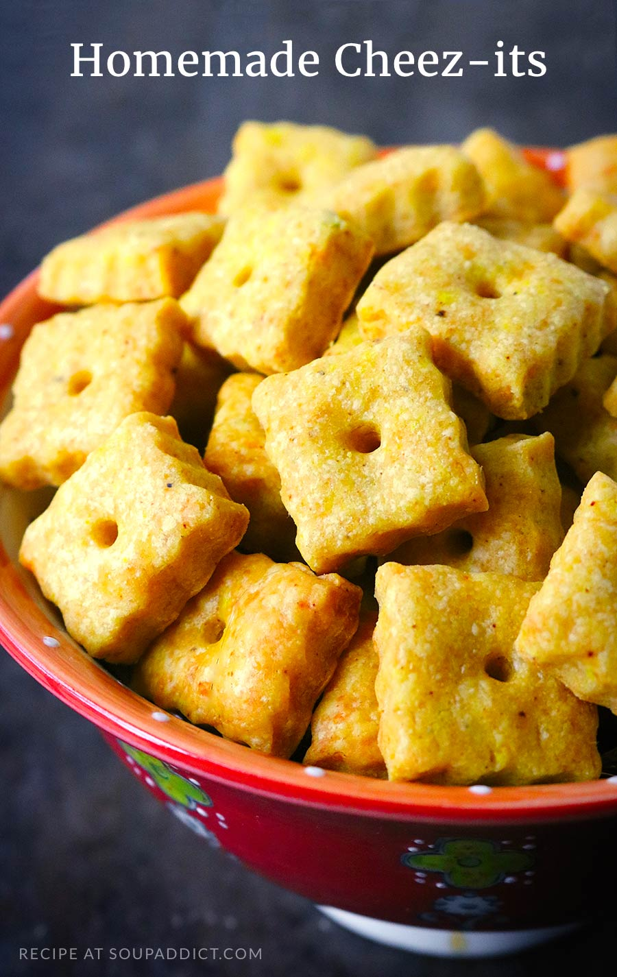 Homemade Cheez-its Crackers from SoupAddict.com