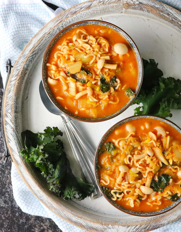 Kimchi Ramen Noodle Soup from SoupAddict.com