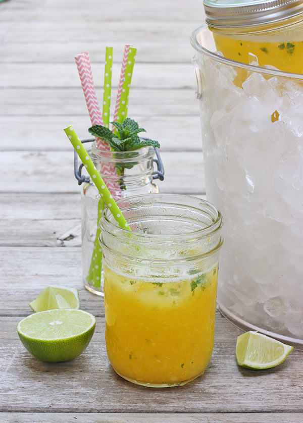 Party Pineapple Orange Mojitos from SoupAddict.com