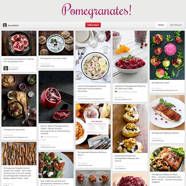 SoupAddict's Pomegranates Board on Pinterest
