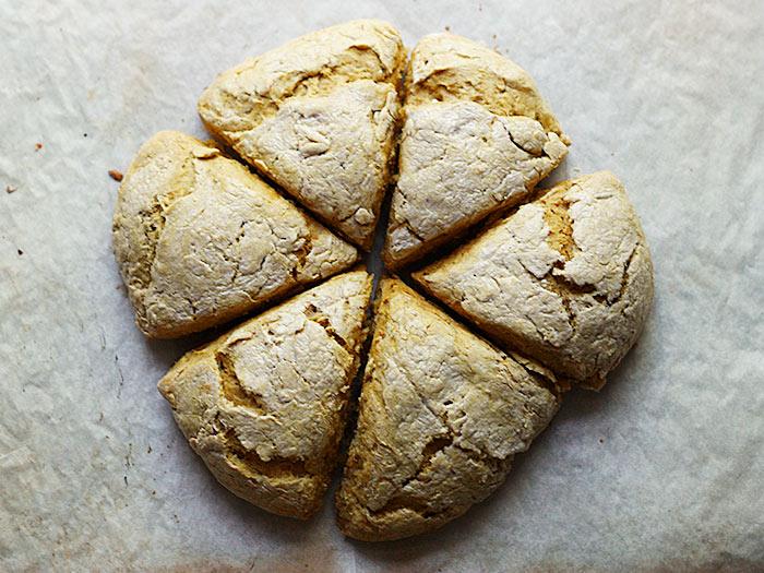 Pumpkin Spice Scones with Cappuccino Cream Glaze | SoupAddict.com