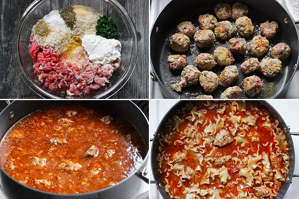 Steps for cooking up Ricotta Meatball Soup