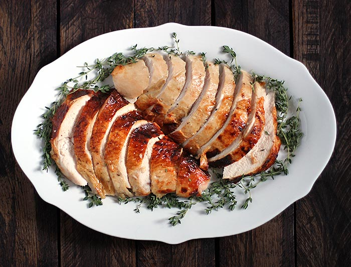 Roasting a Turkey for Two - Roasted Turkey Breast with an Apple Cider Brine | SoupAddict.com