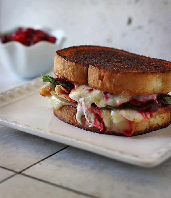 Turkey cranberry boursin grilled cheese sandwiches - Thanksgiving leftovers have never been so addictive! via @SoupAddict on SoupAddict.com