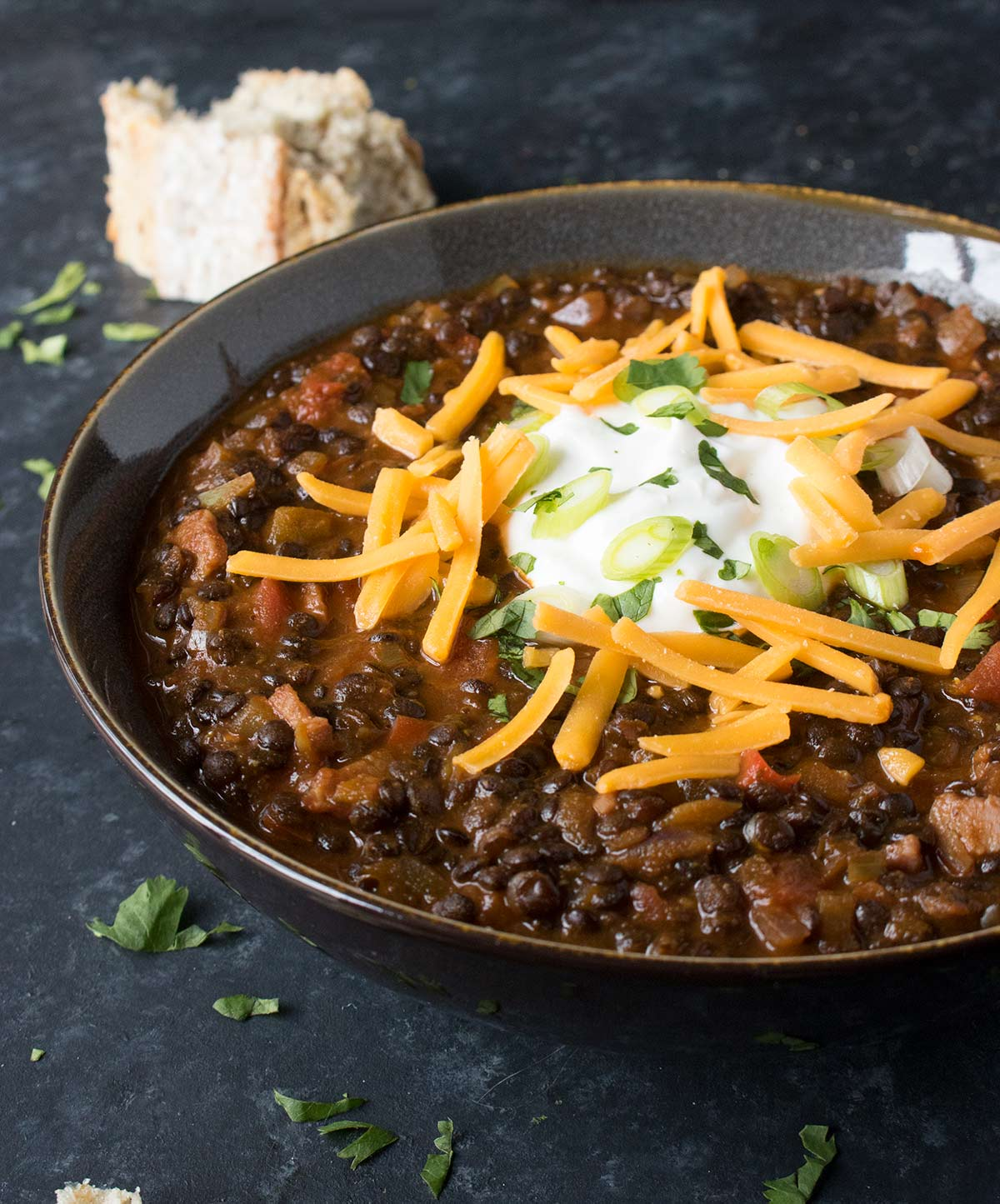 Vegetarian Lentil Chili from SoupAddict.com