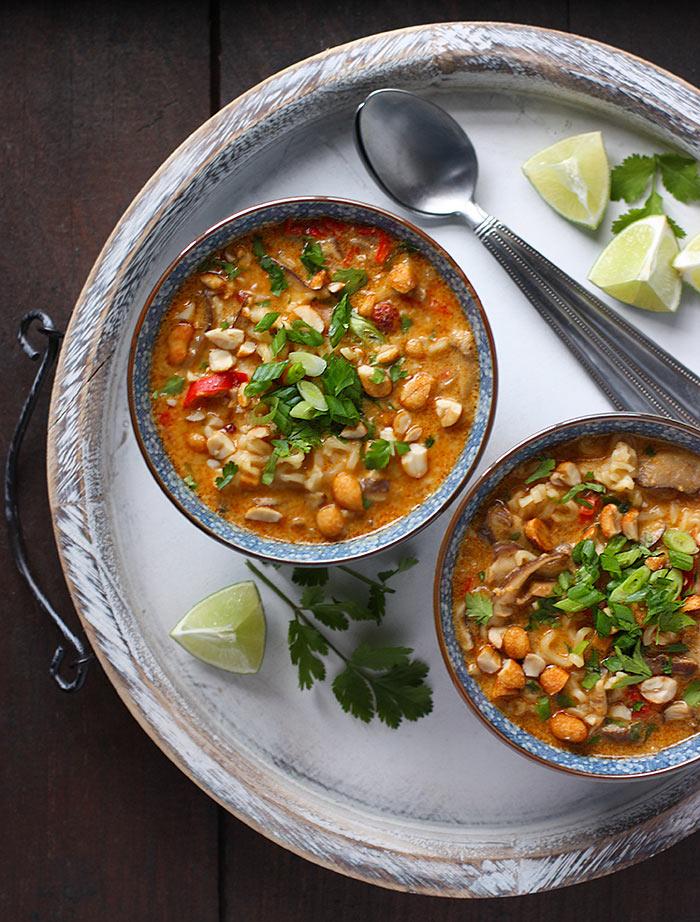 Vegetarian Thai Peanut Soup | SoupAddict.com
