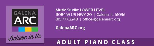Adult Beginner Recreational Piano Class registration logo