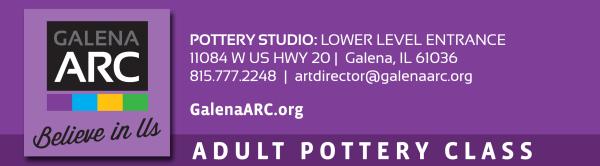 Adult Pottery Class Registration registration logo