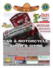 Cinco De Mayo Car & Motocycle Show & Shine registration logo