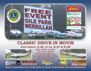 Classic Drive-in Movie registration logo