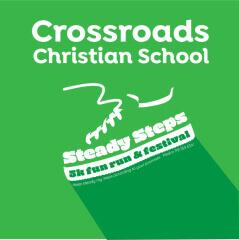 Crossroads' Steady Steps Fun Run, 5K & Festival registration logo