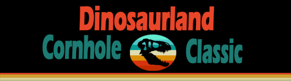 Dinosaurland Cornhole Classic registration logo