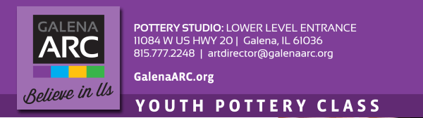 Grades 8-12 Pottery Wheel Workshop registration logo