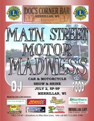 Main Street Motor Madness registration logo