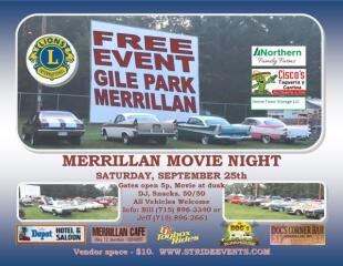 Merrillan Movie Night registration logo
