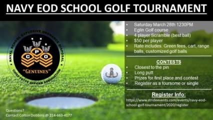 NAVY EOD SCHOOL GOLF TOURNAMENT registration logo