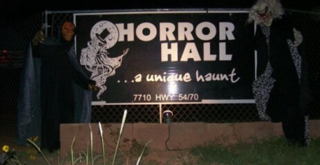 The HorrorHall registration logo