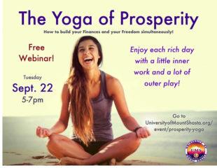 Yoga of Prosperity Webinar registration logo