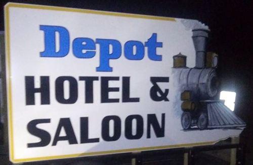 The Deport Hotel & Saloon logo