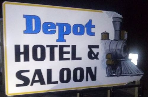 The Depot Hotel and Saloon logo