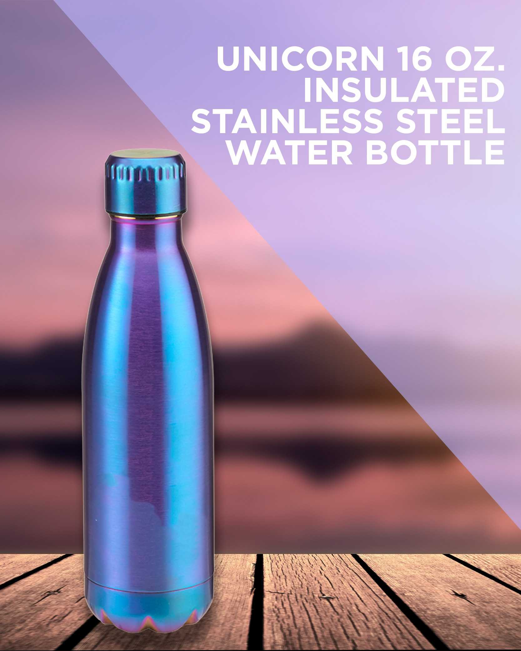 AIM 16oz unicorn stainless steel water bottle