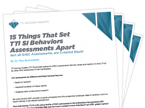 15 Things That Set TTI SI Behaviors Assessments Apart