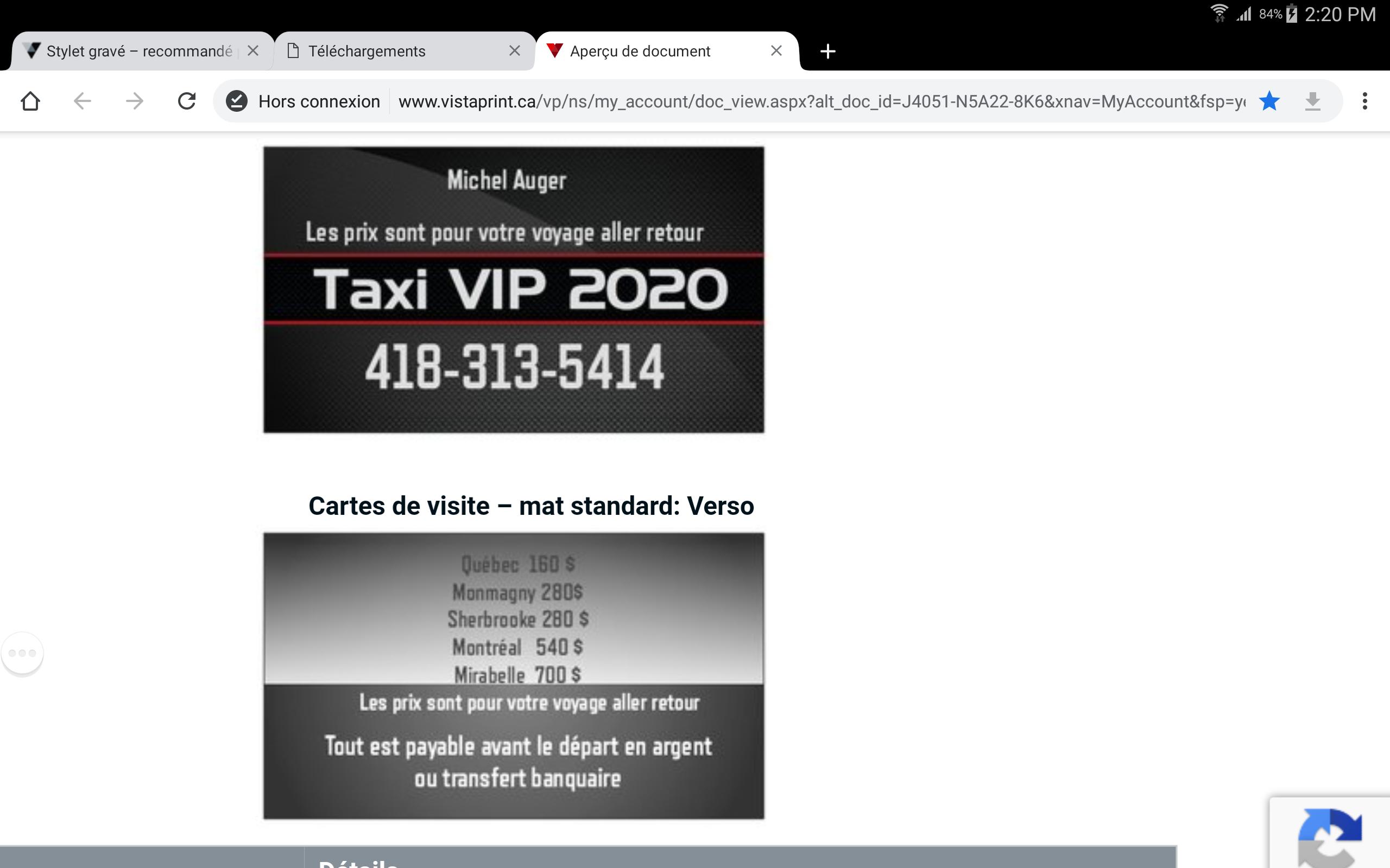 Taxi vip 2020
