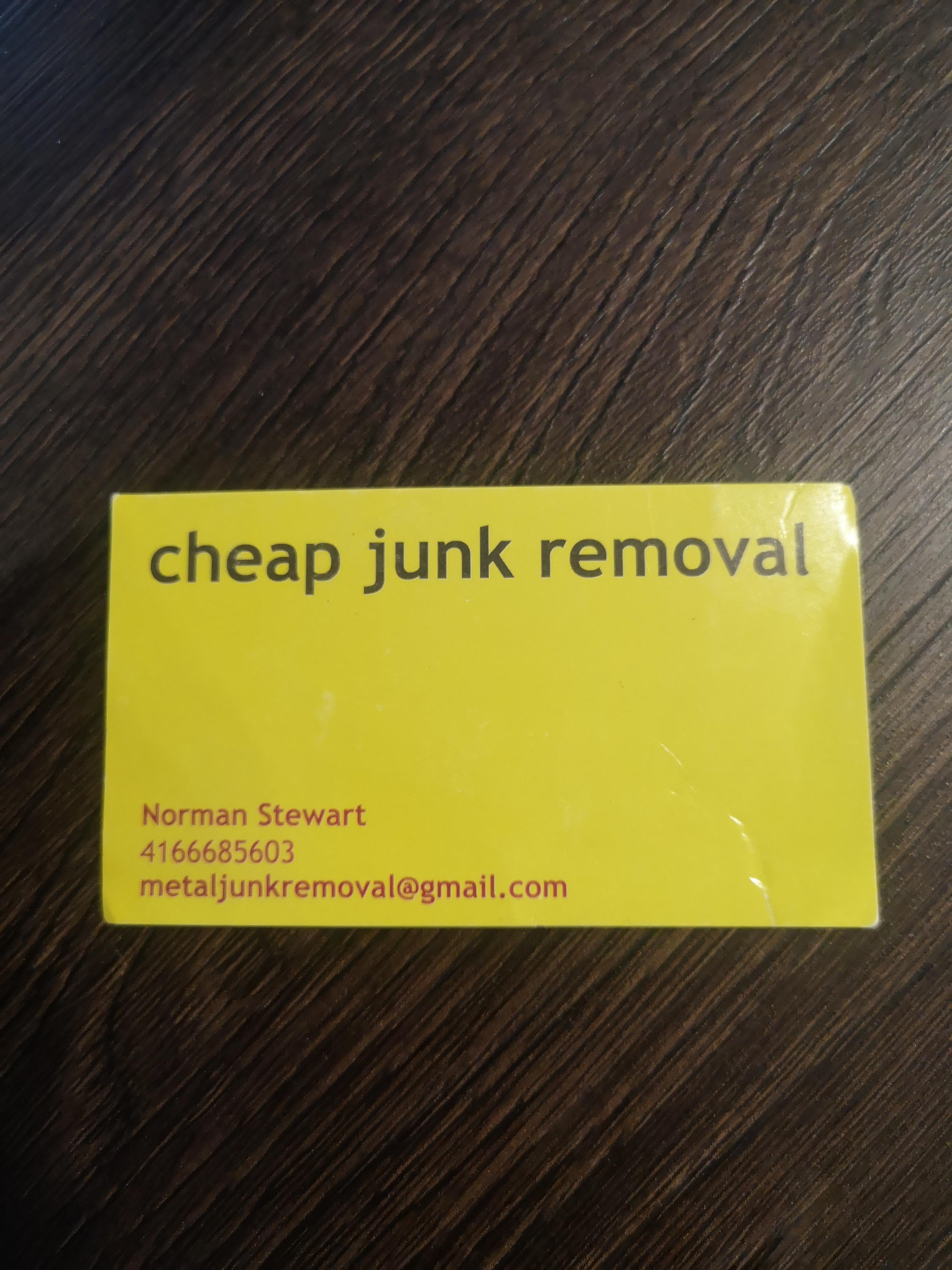 Cheap junk removal