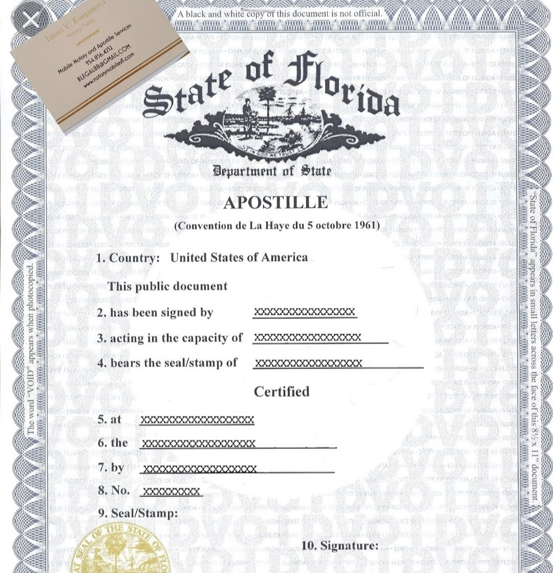 Apostille and Notary Public Services