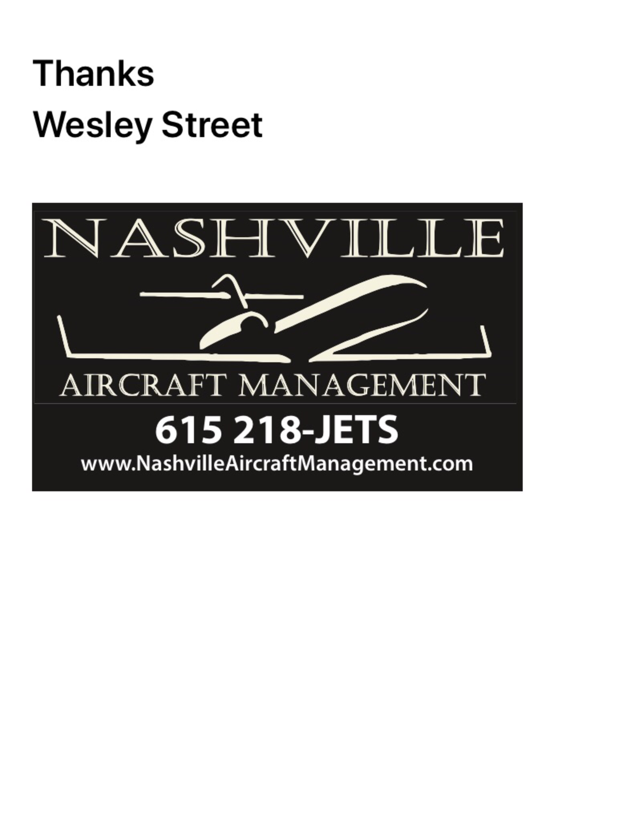 Nashville Aircraft Management LLC.